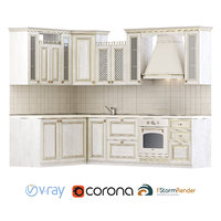 Set for creating a classic kitchen set