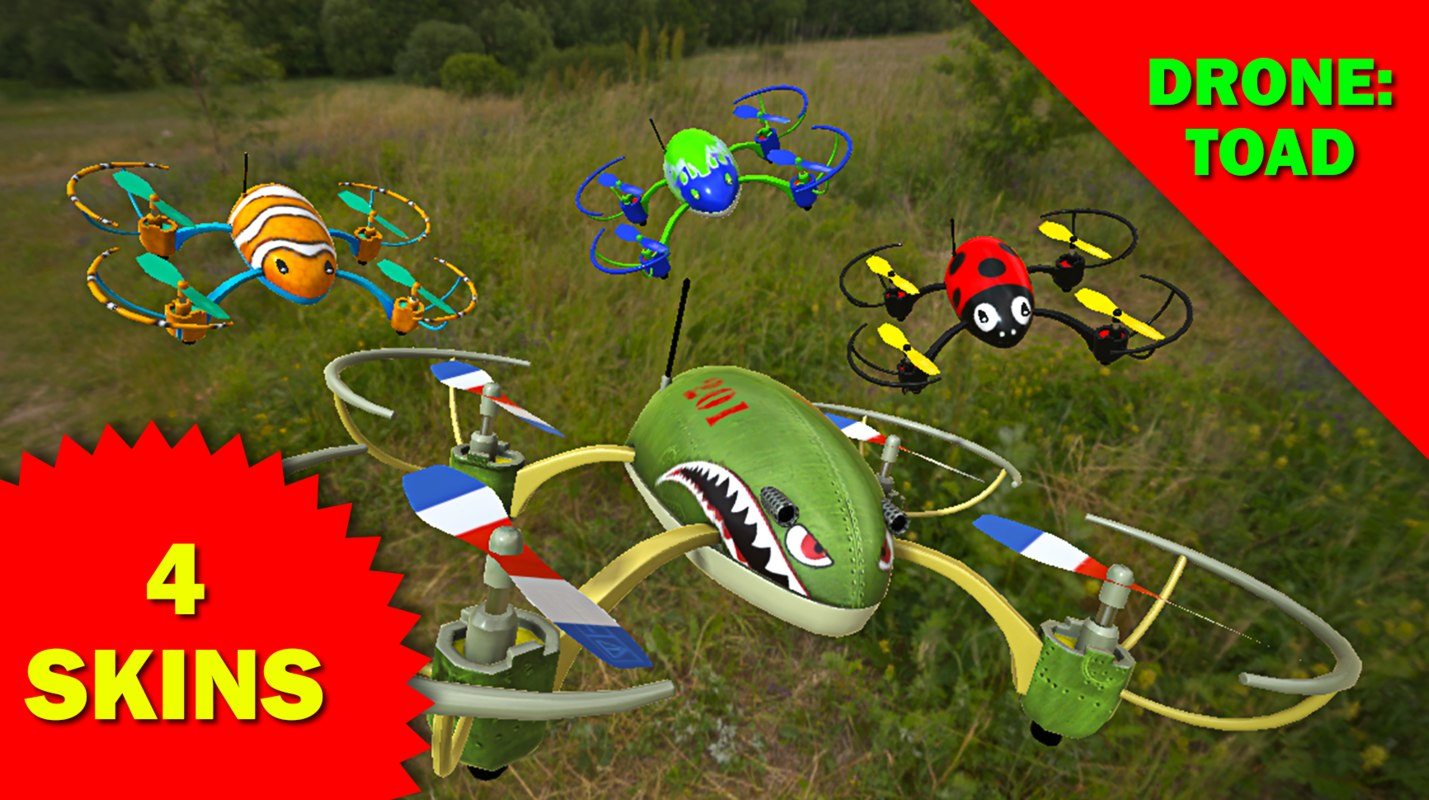 3D toy drone model