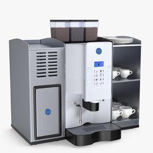 3D model coffee machine carimali armonia