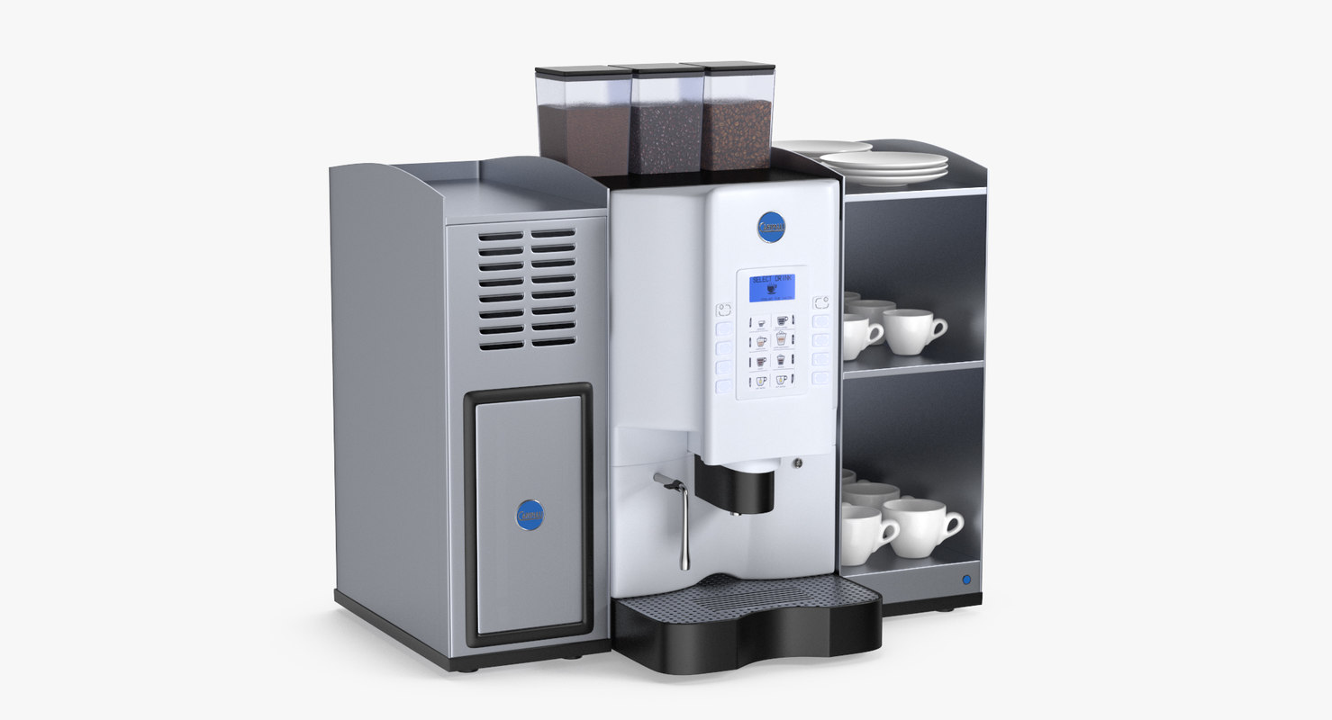 3D model coffee machine carimali armonia