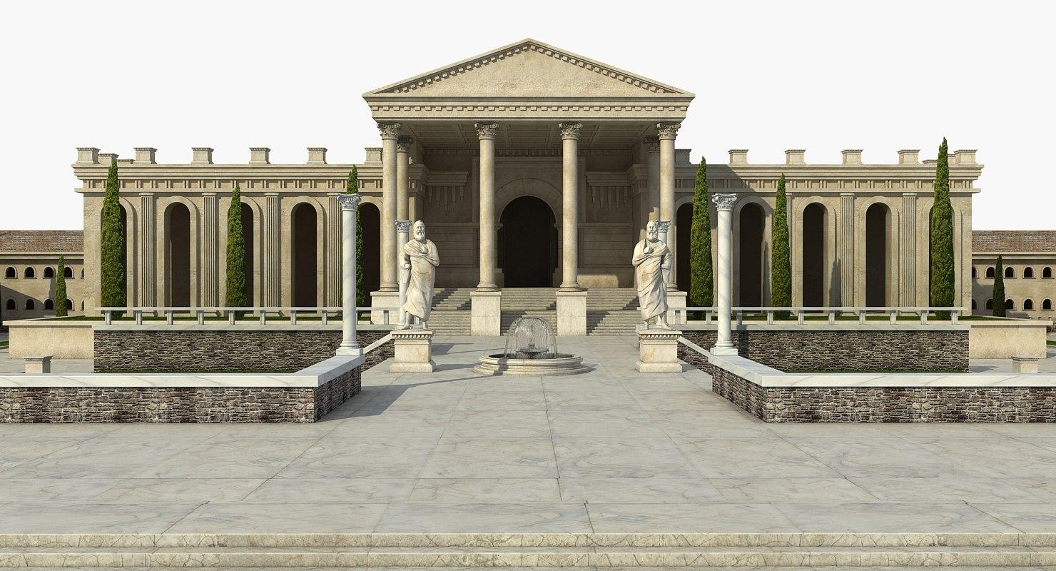 greek architecture 3D