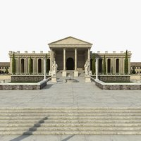 greek architecture 3D