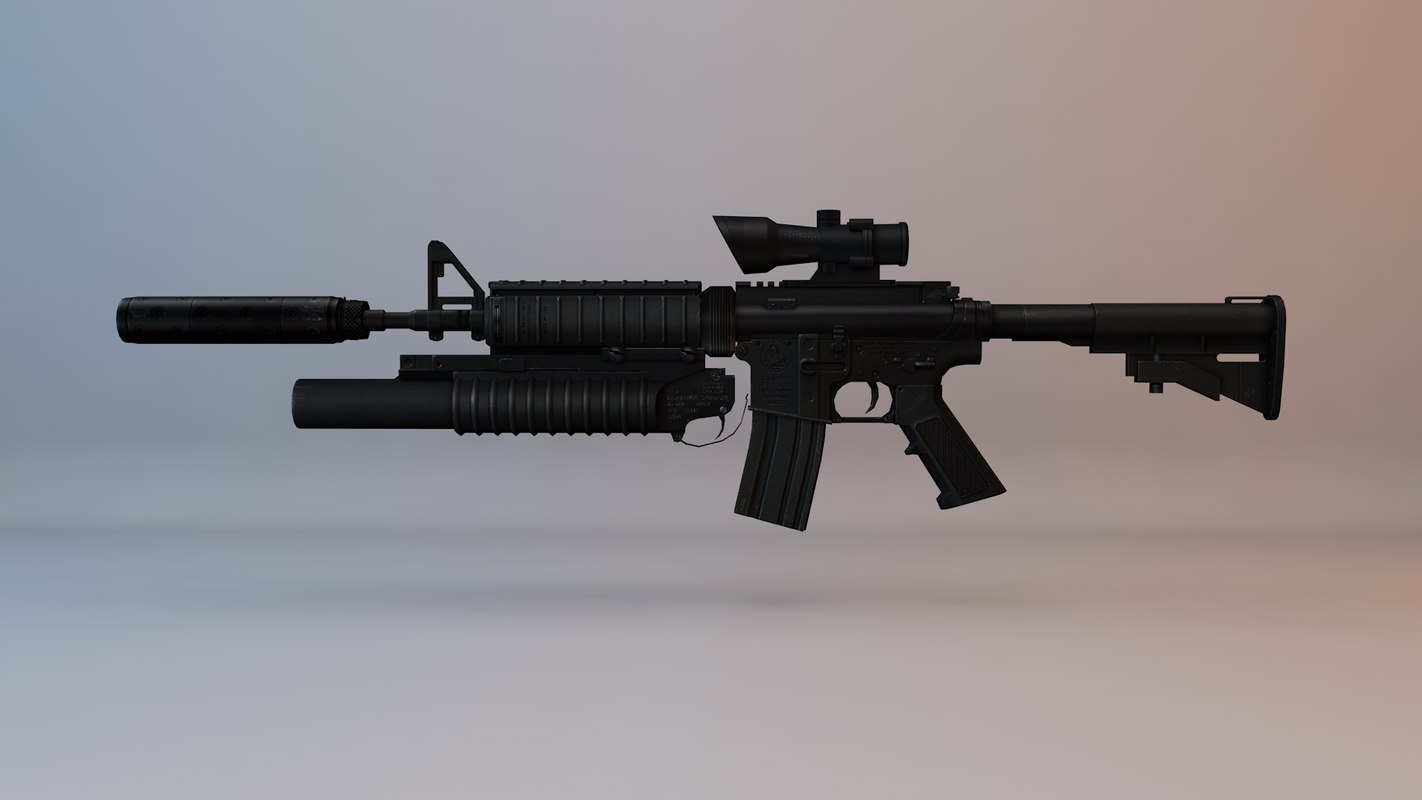 modern military rifle 3D model