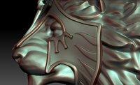 3D armor lion
