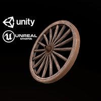 Wagon Wheel - PBR Game Ready