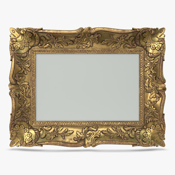 3D model antique baroque frame