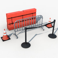 road barriers 3D model