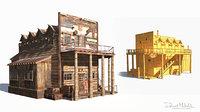 building wild west 3D model