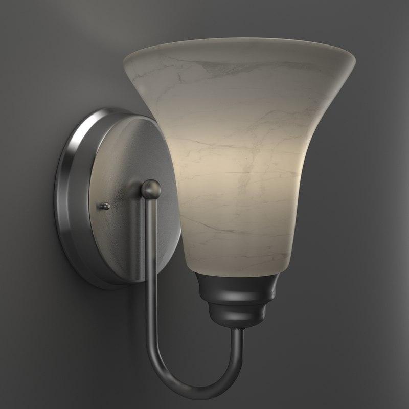 3D sconce lights model
