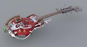 3D fantasy guitar weapon