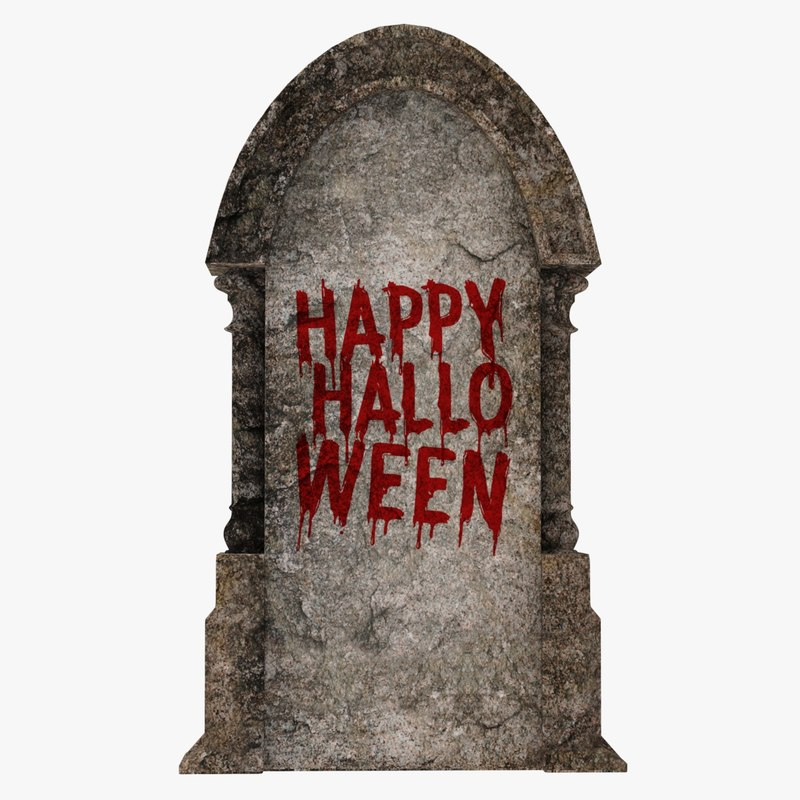 3D model halloween gravestone