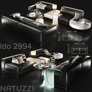 3D couch sofa