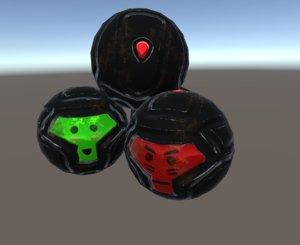 sci fi granade 3D model