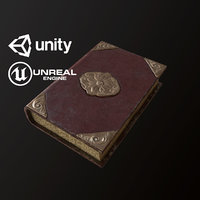 Ornate Leather Book - PBR Game Ready