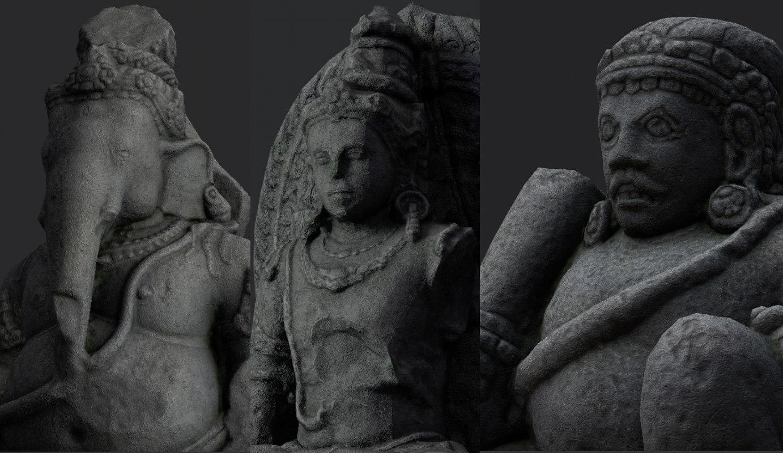 3D hindu statue pack model