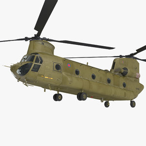 heavy helicopter ch-47 chinook model