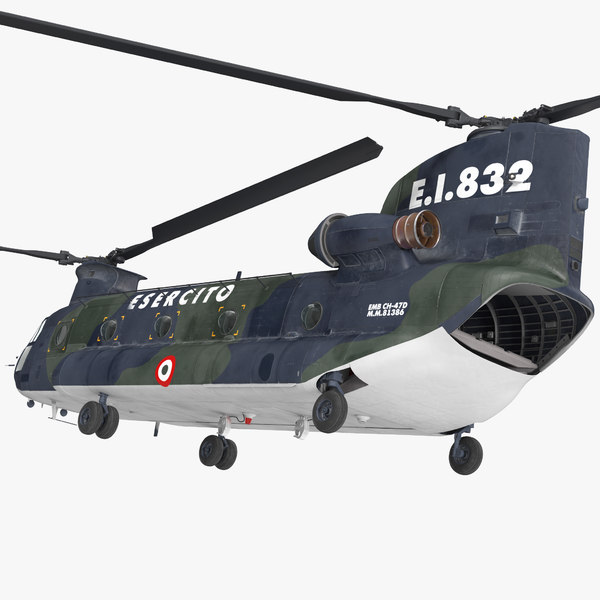 transport helicopter ch-47 chinook 3D model