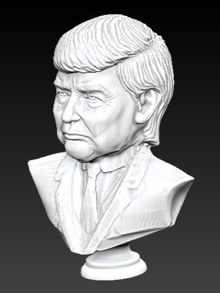 3D donald trump bust