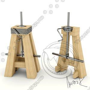 wooden jack 3D