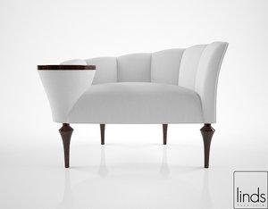 3D linds furniture allan occasional model