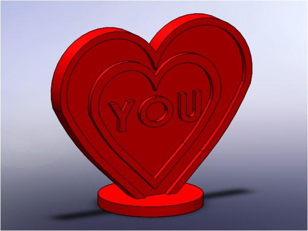 simple heart 3D model