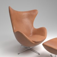 Fritz Hansen EGG leather walnut