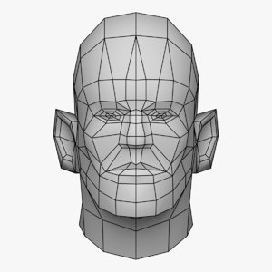 human character head 3D