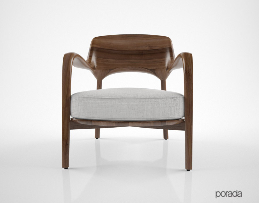 porada louis chair 3D model