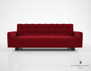 3D model stuart scott adoni sofa