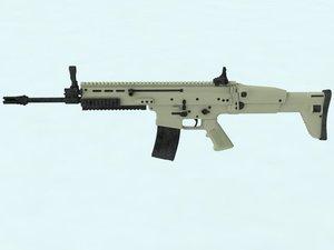 3D rifle scar