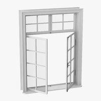 3D model classic window 06 half