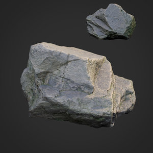 scanned nature stone 021 3D model