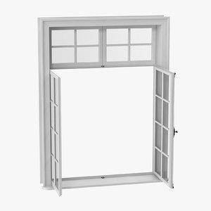 3D classic window 06 open