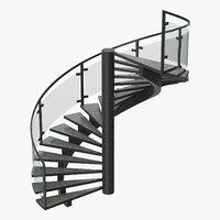 3D model commercial spiral