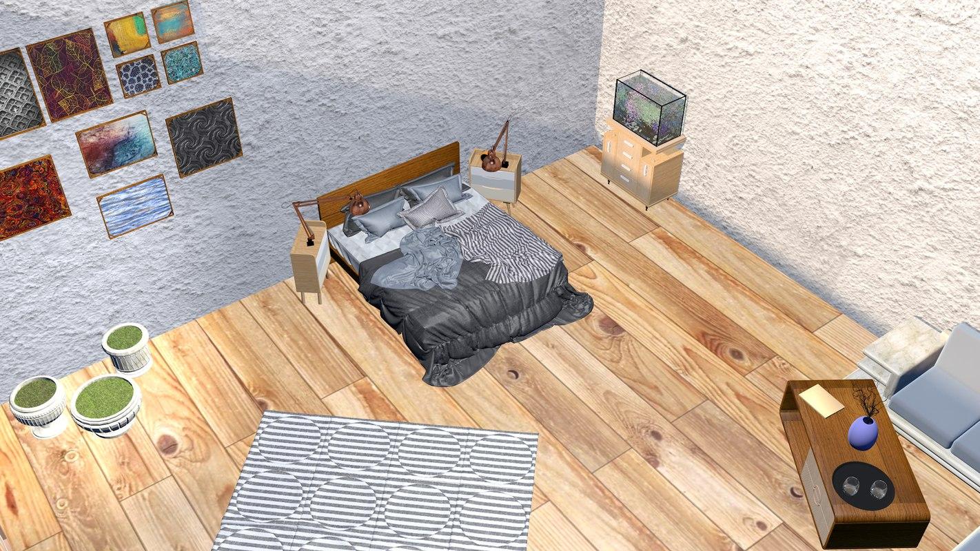 3D professional bedroom computer monitor