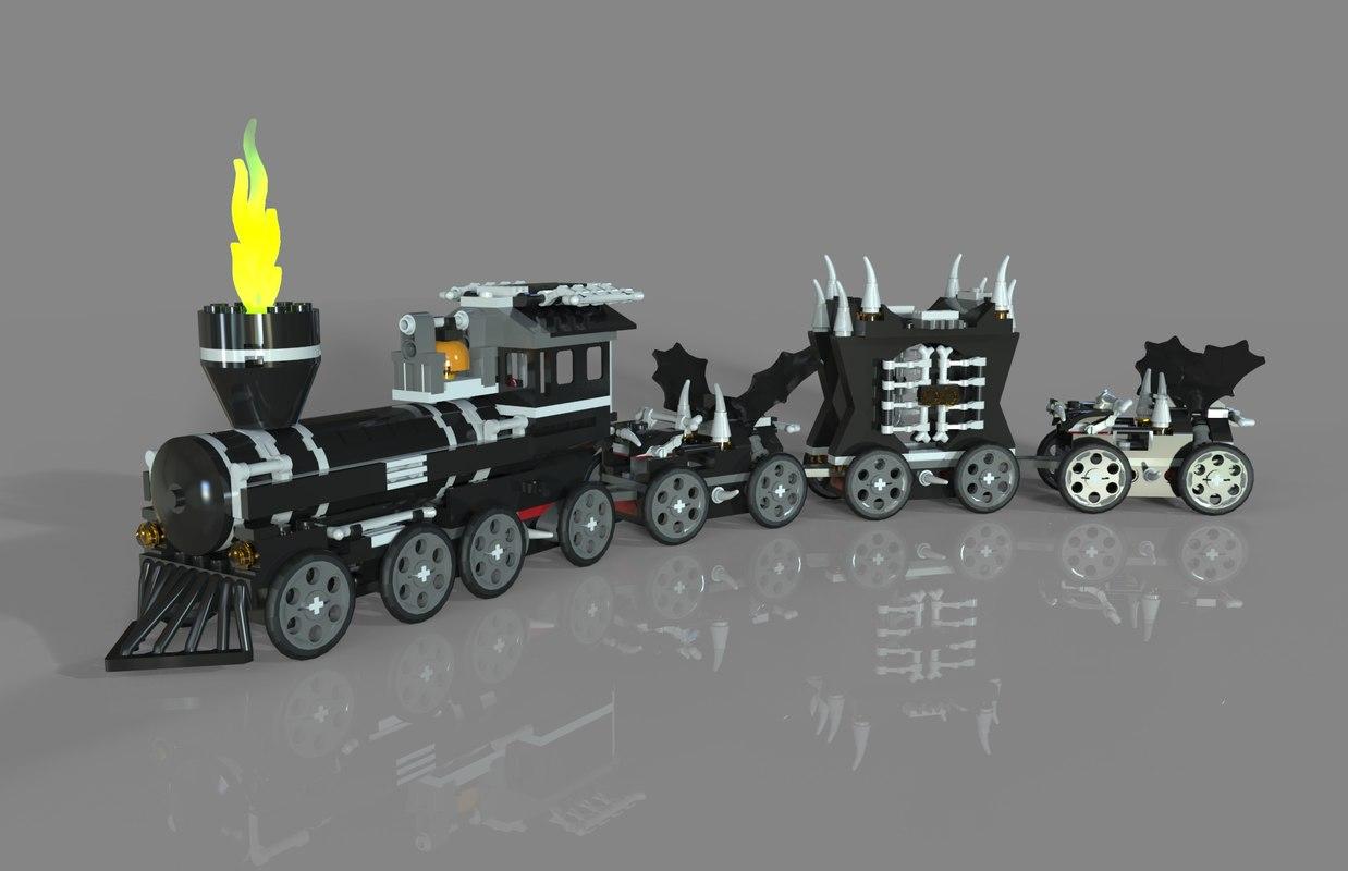 lego train monster model