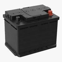 3D car battery 01