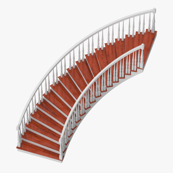 residential staircase curved 3D