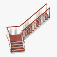 residential staircase 3D model