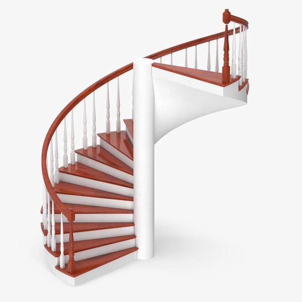 3D residential staircase spiral