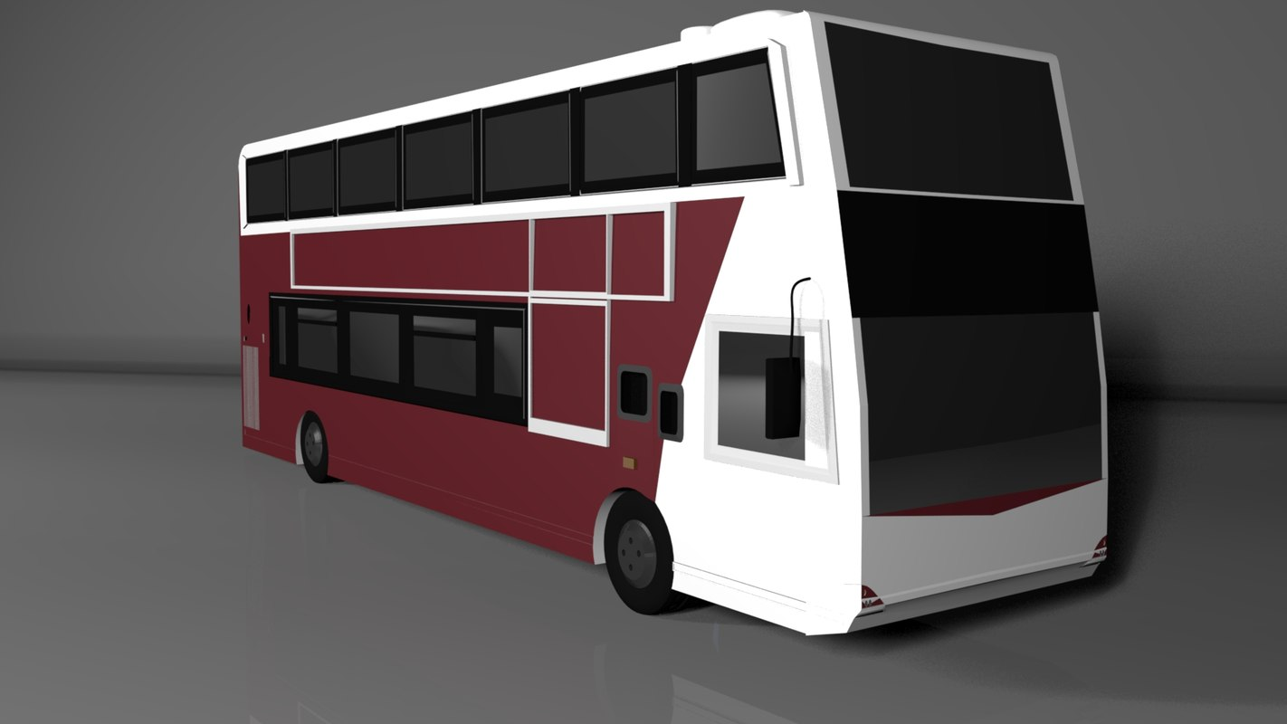 edinburgh bus 3D model