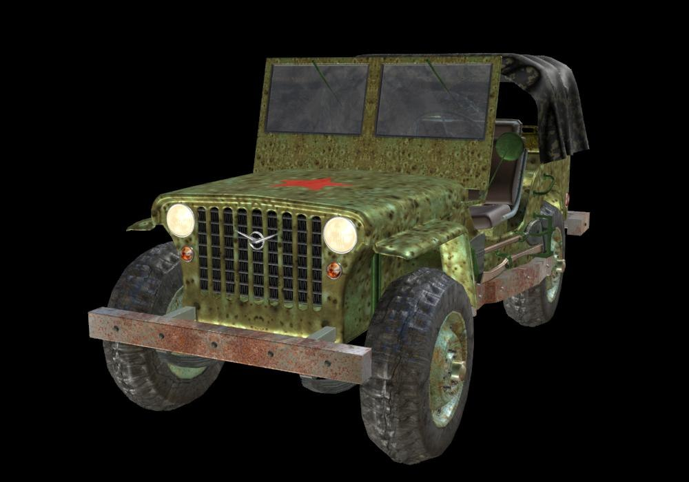 3D military jeep russian model