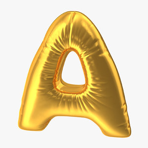 3D foil balloon letter gold