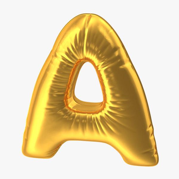 3D foil balloon letter gold