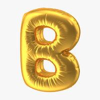 foil balloon letter b 3D model