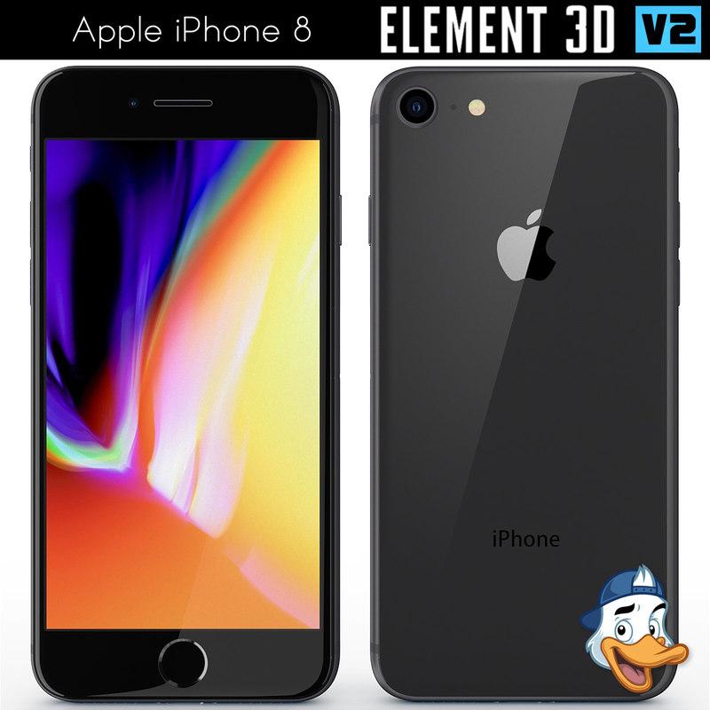 3D apple iphone 8 element