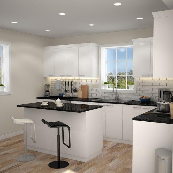 Modern Kitchen Interior Model Turbosquid 1214766