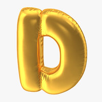 Foil Balloon Letter D Gold