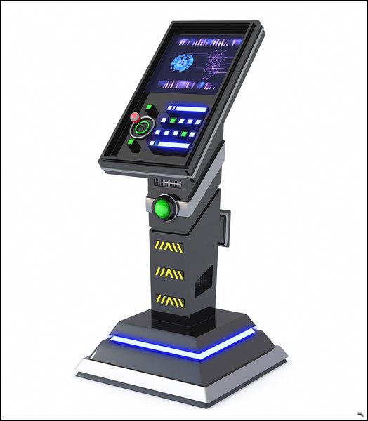3D sci-fi panel model