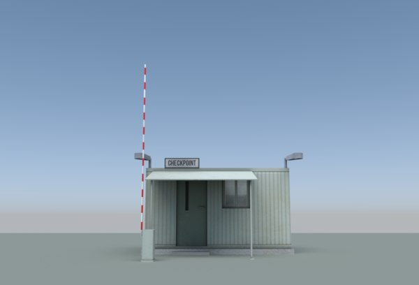 3D booth security checkpoint